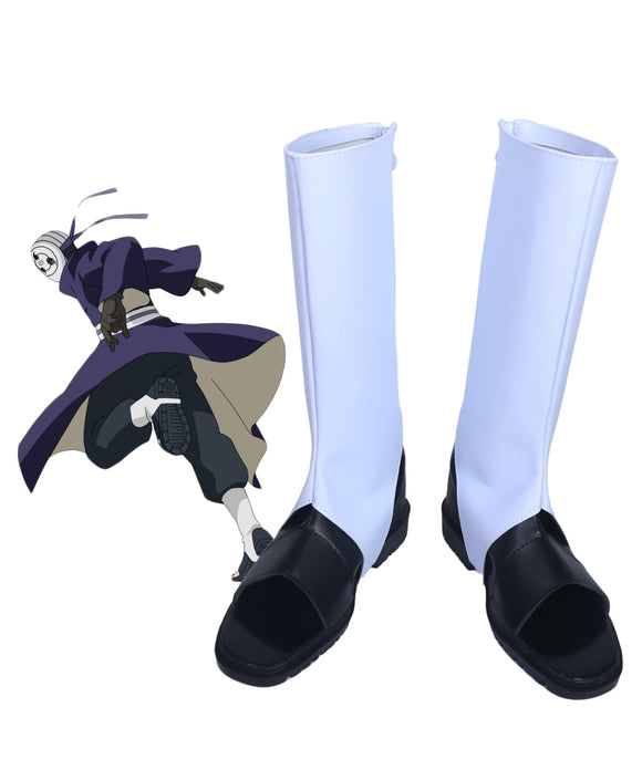 Naruto Uchiha Obito Cosplay Boots White Shoes Custom Made