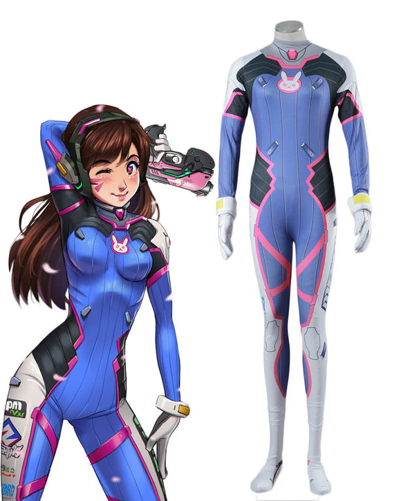 Overwatch OW Hana Song D.VA Jumpsuits Cosplay Costume