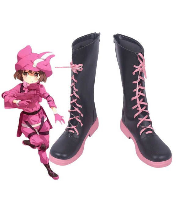 Sword Art Online Gun Gale Online LLENN Kohiruimaki Karen Cosplay Boots Shoes Custom Made