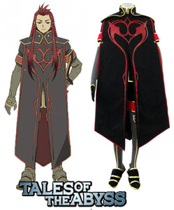 Tales of the Abyss Asch the Bloody Cosplay Costume Custom Made