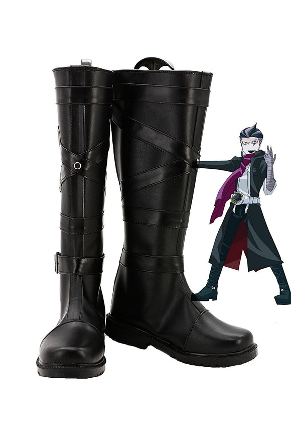 Danganronpa Kiyotaka Ishimaru Cosplay Boots Black Shoes Custom Made