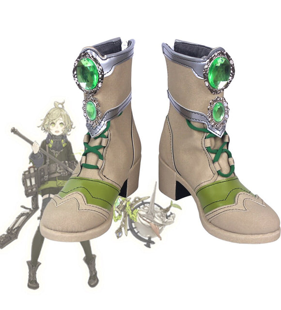 SINoALICE Pinocchio Cosplay Boots Leather Shoes Custom Made
