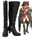 FGO Fate Grand Order Francis Drake Cosplay Boots High Heel Shoes Black Custom Made Any Size