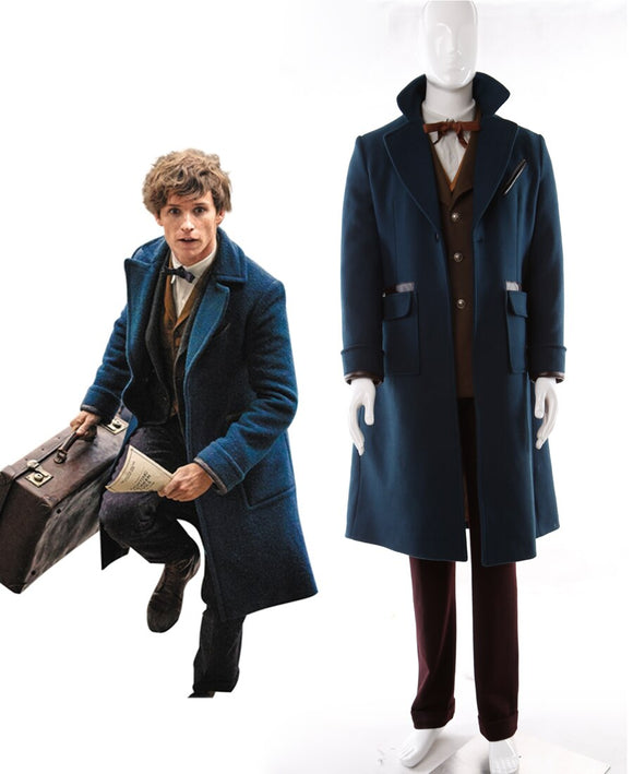 Fantastic Beasts and Where to Find Them Newt Scamander Cosplay Costume Custom Made