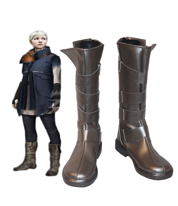 Detroit: Become Human Kara Cosplay Boots Leather Shoes Custom Made