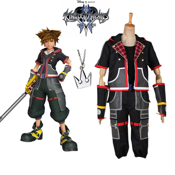Kingdom Hearts 3 Sora Cosplay Costume Full Set Custom Made