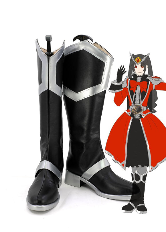 Kamen Rider Female Wizard Cosplay Boots Masked Rider Wizard Leather Shoes Custom Made