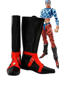 JOJO'S BIZARRE ADVENTURE 5 GUIDO MISTA Cosplay Boots Black Shoes Custom Made