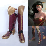 Original Batman v Superman Wonder Woman Prince Cosplay Boots High Heel Leather Shoes