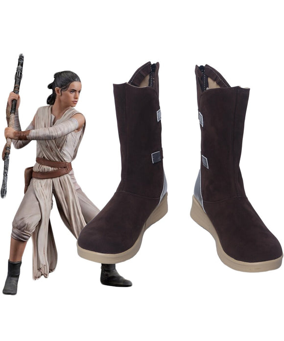 Star Wars The Force Awakens Rey Cosplay Boots Shoes Custom Made Any Size