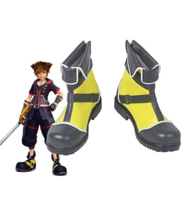 Kingdom Hearts Sora Cosplay Boots Yellow Shoes Custom Made
