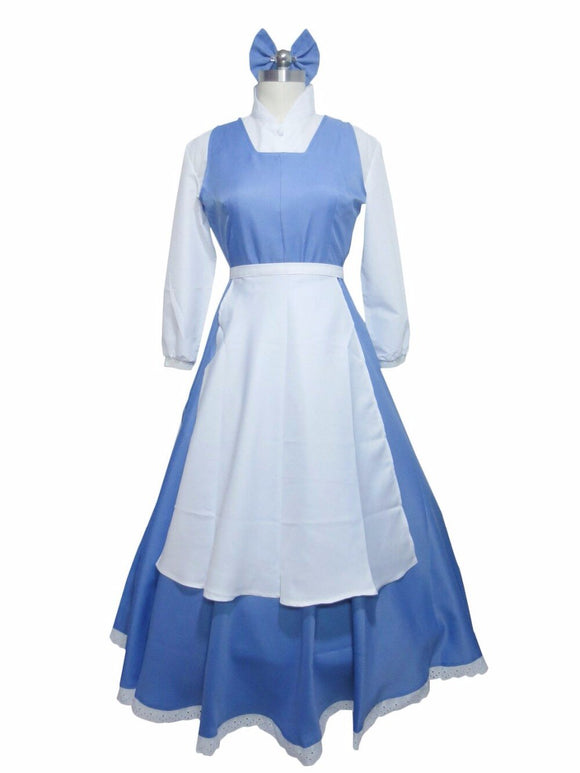 Beauty and the Beast Belle Maid Dress Cosplay Costume