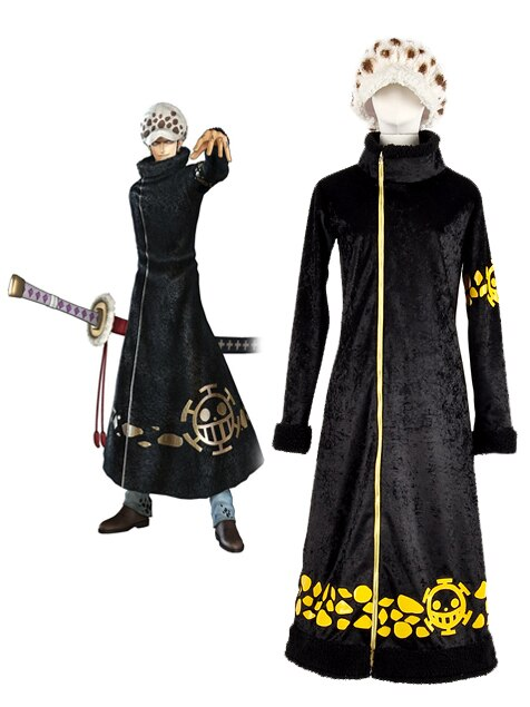 One Piece Surgeon of Death Trafalgar Law Cosplay Costume