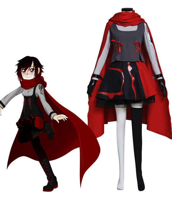 RWBY Red Trailer Ruby Rose Cosplay Costume Custom Made