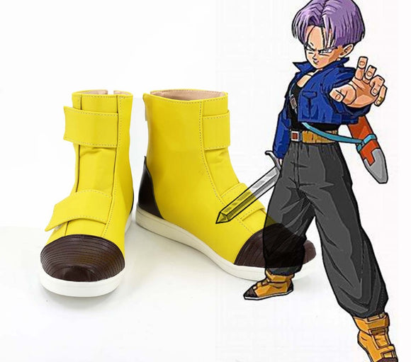Dragon Ball Z Trunks Cosplay Boots Yellow Shoes Custom Made Any Size