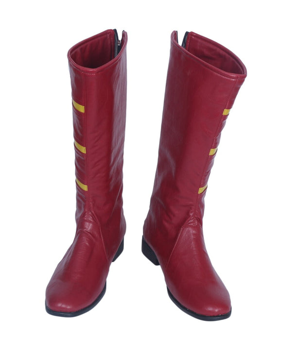 Jesse Chambers Jesse Quick Cosplay Boots Red Shoes Custom Made