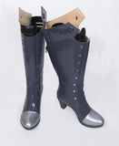 Persona 5 Queen Makoto Niijima Battle Cosplay Boots Grey Shoes Custom Made Any Size