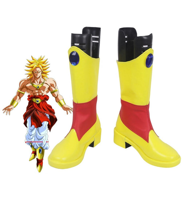 Dragon Ball Z Legendary Super Saiyan Broli Cosplay Boots Yellow Shoes Custom Made