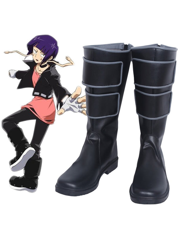 Boku no Hero Academia My Hero Academia Kyoka Jiro Cosplay Boots Black Shoes Custom Made