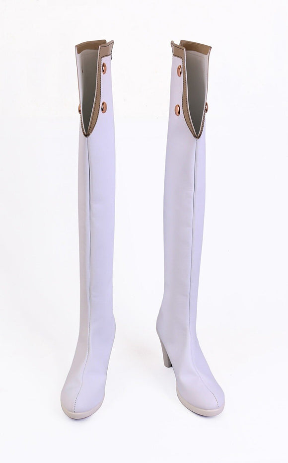 Fate Grand Order FGO Scathach Cosplay Boots Over-knee White Shoes Custom Made