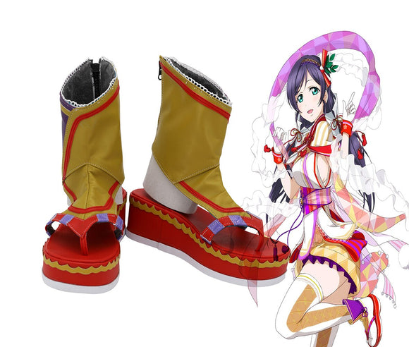 Love Live SR Card Nozomi Tojo Cosplay Boots Summer Shoes Sandals Halloween Party Cosplay Costume Accessory