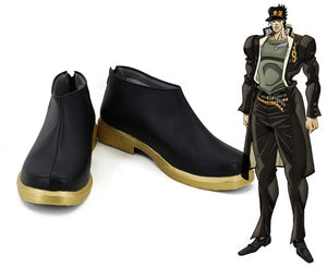 JoJo's Bizarre Adventure Jotaro Kujo Cosplay Boots Black Shoes Custom Made Any Size