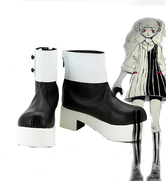 Danganronpa Woman Monokuma Black White Bear Shoes Cosplay Boots Custom Made