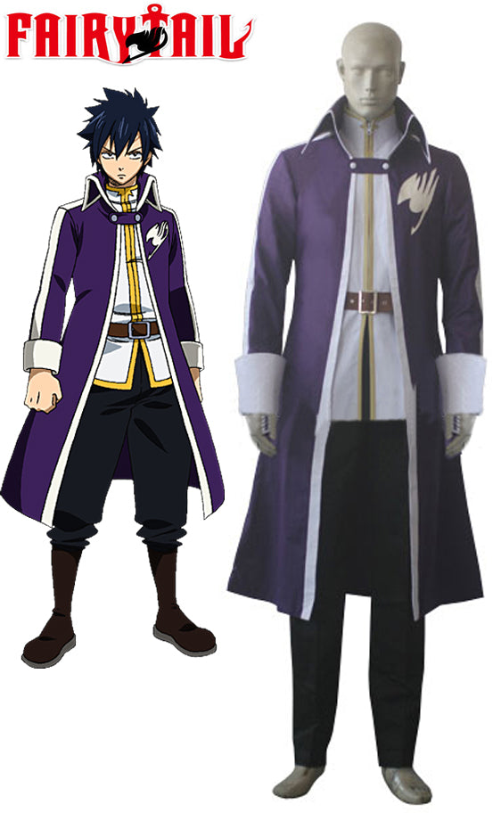 Fairy Tail Team A Gray Fullbuster Cosplay Costume Custom Made