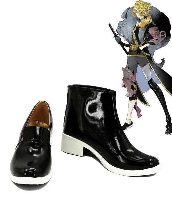 Touken Ranbu Online Shishiou Cosplay Shoes Black Boots Custom Made