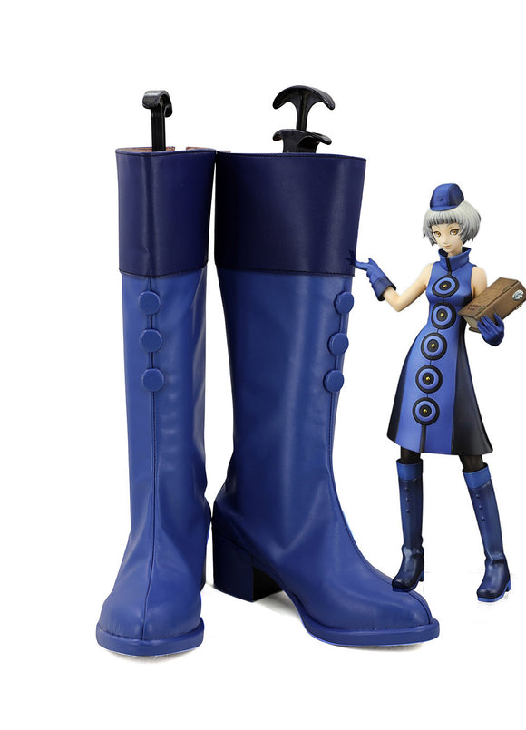 Persona 3 Elizabeth Cosplay Boots PERSONA3 Shin Megami Tensei Blue Shoes Custom Made