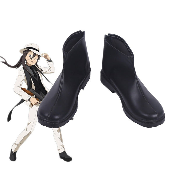 Sword Art Online Kirito Black Boots Cosplay Leather Shoes Custom Made