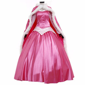 Sleeping Beauty Princess Aurora Dress with Cloak Cosplay Costume