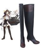 Kantai Collection Kongou Class Fast Battleship Base Version Cosplay Boots Black Shoes Custom Made