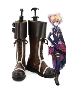 VOCALOID Romeo and Cinderella VerLen&Rin Cosplay Boots Brown Shoes Custom Made