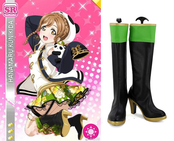 Love Live Sunshine Kunikida Hanamaru Cosplay Boots High Heel Shoes Custom Made