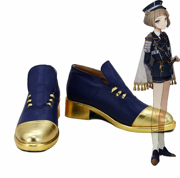 Touken Ranbu Online Maeda Toushirou Cosplay Shoes Blue Boots Custom Made