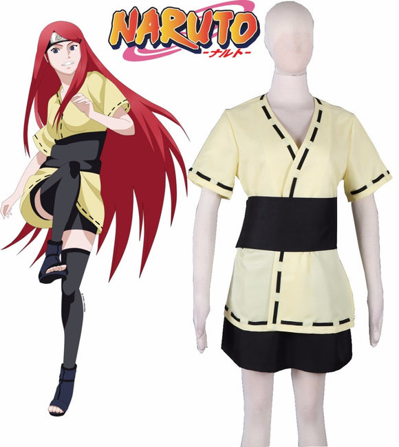 Naruto Shippuden Naruto Mother Uzumaki Kushina Mission Uniform Cosplay Costume