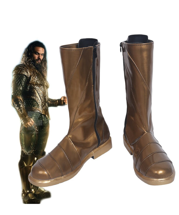 Justice League Arthur Curry Aquaman Cosplay Boots Leather Shoes Custom Made