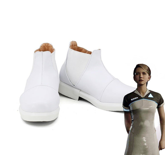Detroit Become Human Kara Cosplay Shoes White Boots Custom Made