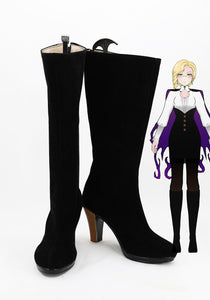 RWBY Glynda Goodwitch Cosplay Boots Leather Shoes High Heel Costume Made