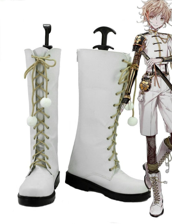 Touken Ranbu Online Monoyoshi Sadamune Cosplay Boots White Shoes Custom Made