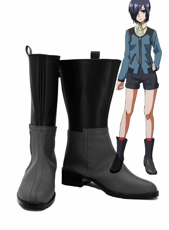 Tokyo Ghoul Kirishima Touka Cosplay Boots Leather Shoes Custom Made