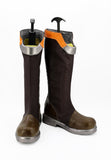 Overwatch OW Tracer Slipstream Skin Cosplay Boots Brown Shoes Custom Made Any Size