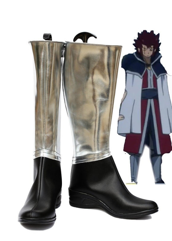 Fairy Tail Cobra Cosplay Boots Leather Shoes Custom Made