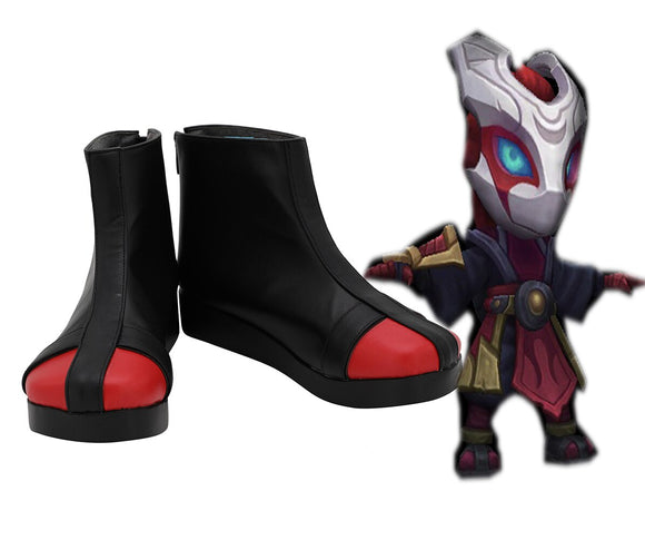 League of Legends LOL the Heart of the Tempest Kennen Cosplay Boots Black Shoes Custom Made