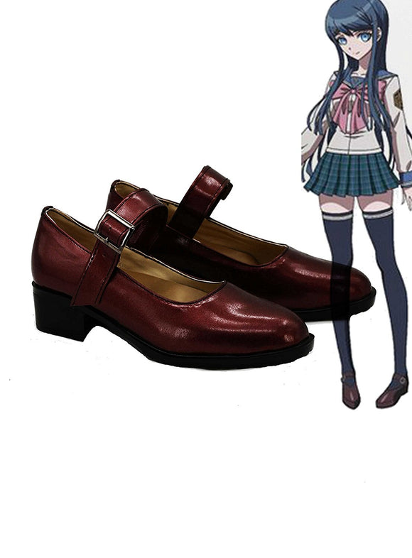 Danganronpa Sayaka Maizono Cosplay Shoes Flat Boots Custom Made Any Size