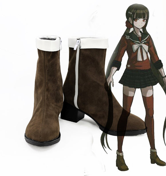 Danganronpa V3 Harukawa Maki Cosplay Boots Brown Shoes Custom Made