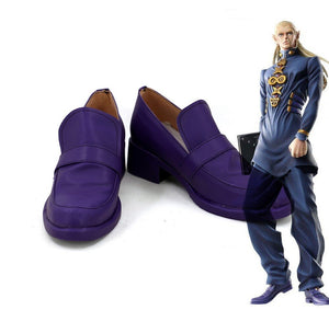 JoJo's Bizarre Adventure Mikitaka Hazekura Cosplay Shoes Purple Boots Custom Made