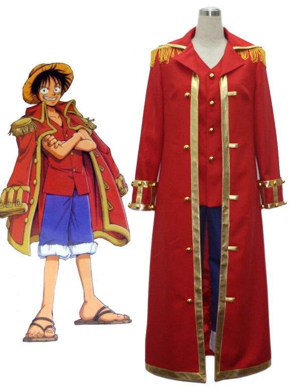 One Piece Monkey D Luffy Captain Uniform Cosplay Costume Custom Made