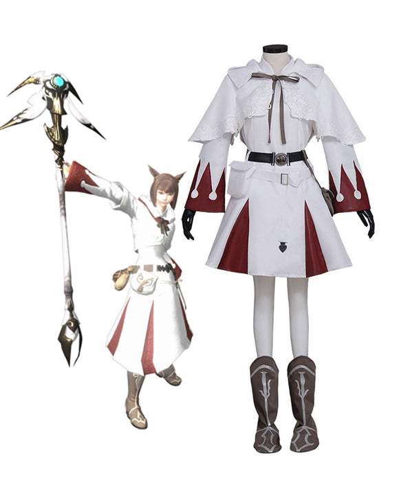 Final Fantasy XIV White Mage Cosplay Costume Custom Made